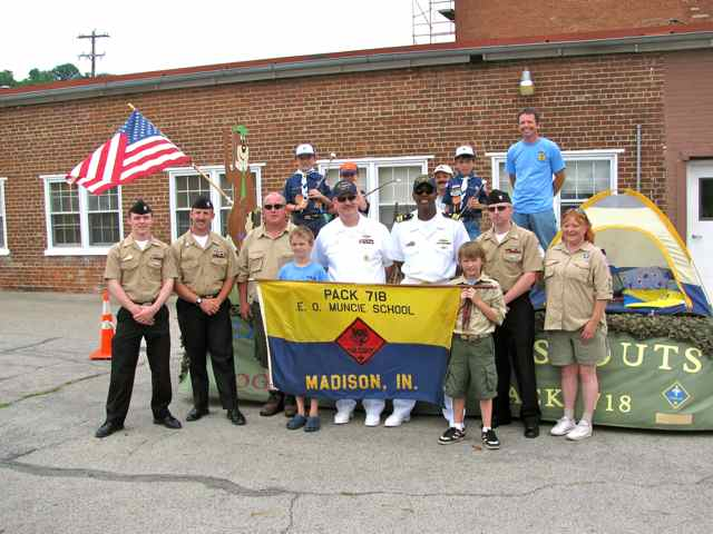 USS Kentucky Sailors with Cub Scouts