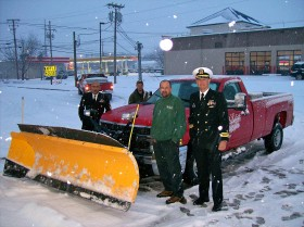 USS Louisville Tours Snow Plow