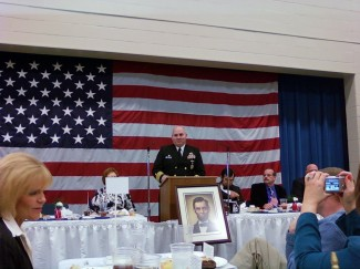 CAPT Michael E. Jabaley Jr., USN, Speaks at the Abraham Lincoln Bicentennial Luncheon in Hodgenville, Ky.