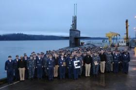USS Kentucky (SSBN 737) (Blue) Sporting a Battle 'E'